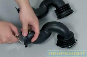 Заменить патрубок на стиральной машине