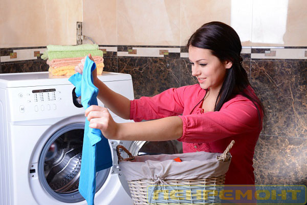 Правильно загружайте белье в машинку